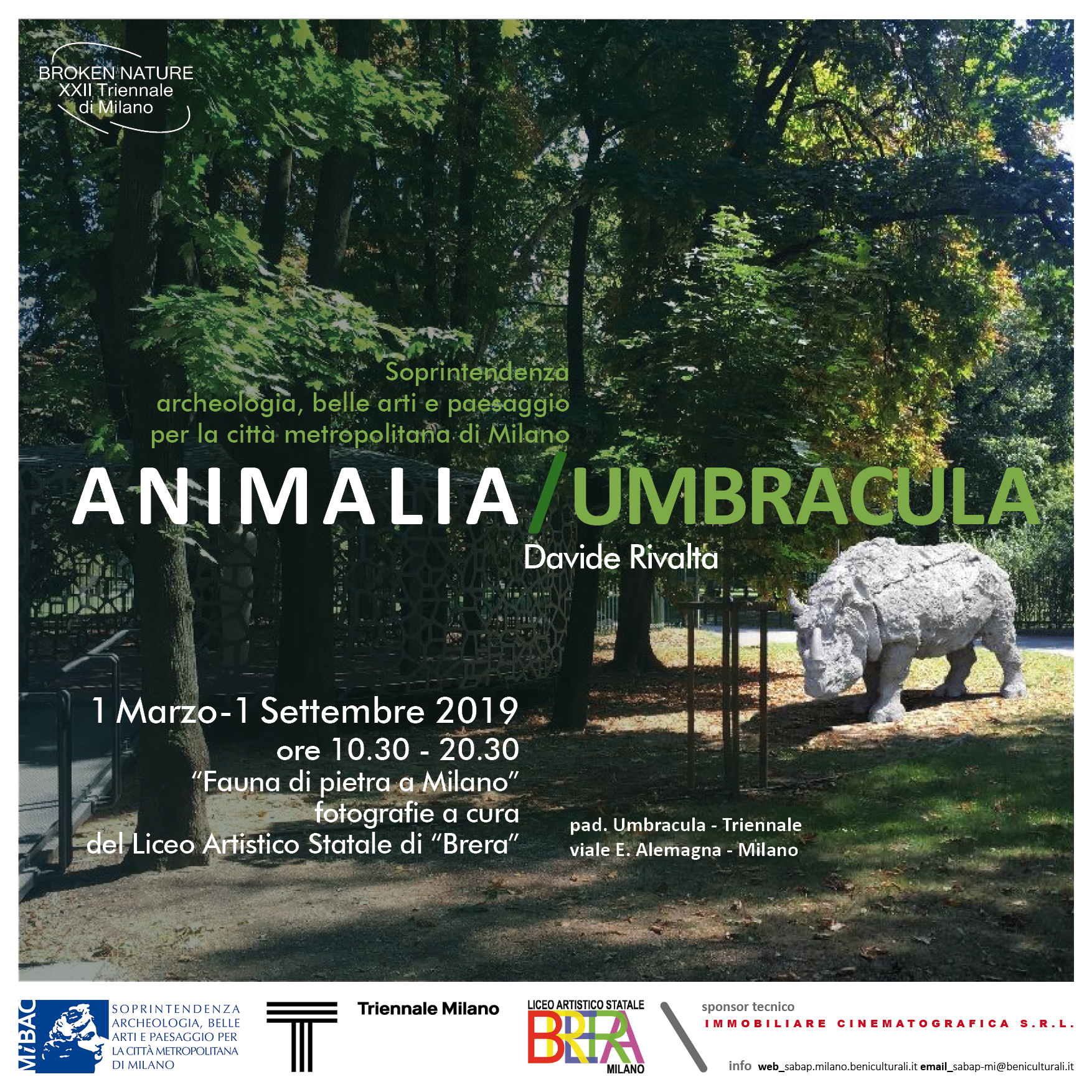Animalia/Umbracula – Davide Rivalta // 1 marzo -1 settembre 2019